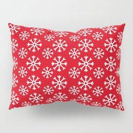 Winter Wonderland Snowflake Christmas Pattern Pillow Sham