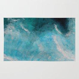 Deep blue ocean waves Rug