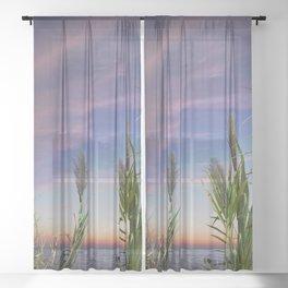 Romantic evening Sheer Curtain