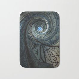Decorated spiral staircase in blue tones Bath Mat