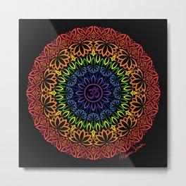 Namaste Mandala Metal Print