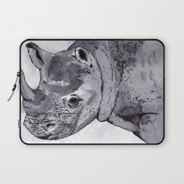 Rhino - Animal Series in Ink Laptop Sleeve