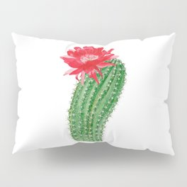 Сactus with red flower Pillow Sham