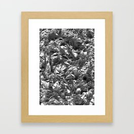 Silver Crush Framed Art Print