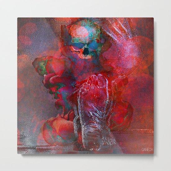 Abstract Skull Metal Print