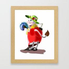 Fashion Cow Framed Art Print
