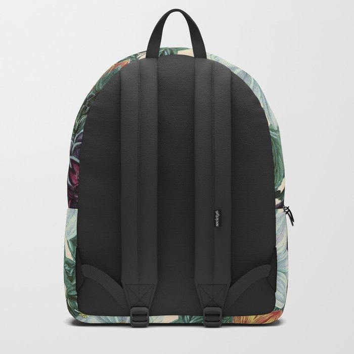 Dahlia Flowers Pattern Backpack