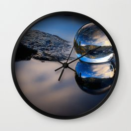 Reflections of Reflections Castle Lake in a crytsal ball photograph Wall Clock