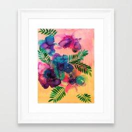 Skye Floral Framed Art Print