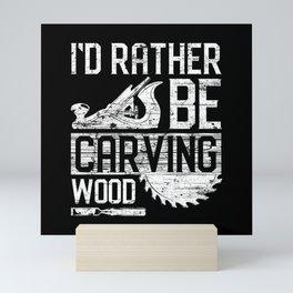 Woodworker Wood Sawmill Circular Saw Mini Art Print