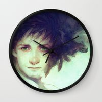 hiccup Wall Clocks featuring Alpha by Anna Dittmann
