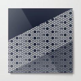 Blue cube Pattern Metal Print