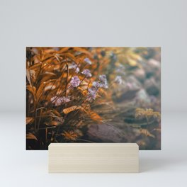 Misty Morning Behind The Garden Wall Mini Art Print