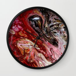 """""""Passion"""" artwork by Inessa Laurel Wall Clock"""