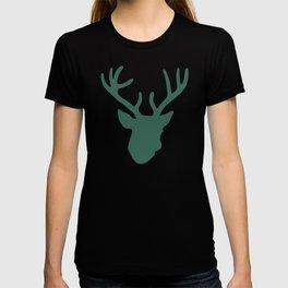 Deer Head: Green T-shirt