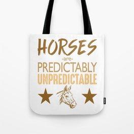 Unpredictable Horse Tote Bag