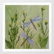 Dragonfly Dragonfly Art Print