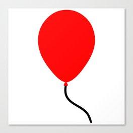 Red Balloon Emoji Canvas Print
