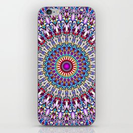 Fantasy Flower Garden Mandala iPhone Skin