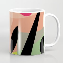 Splatter Burn Neon Chartreuse Print Variation Coffee Mug