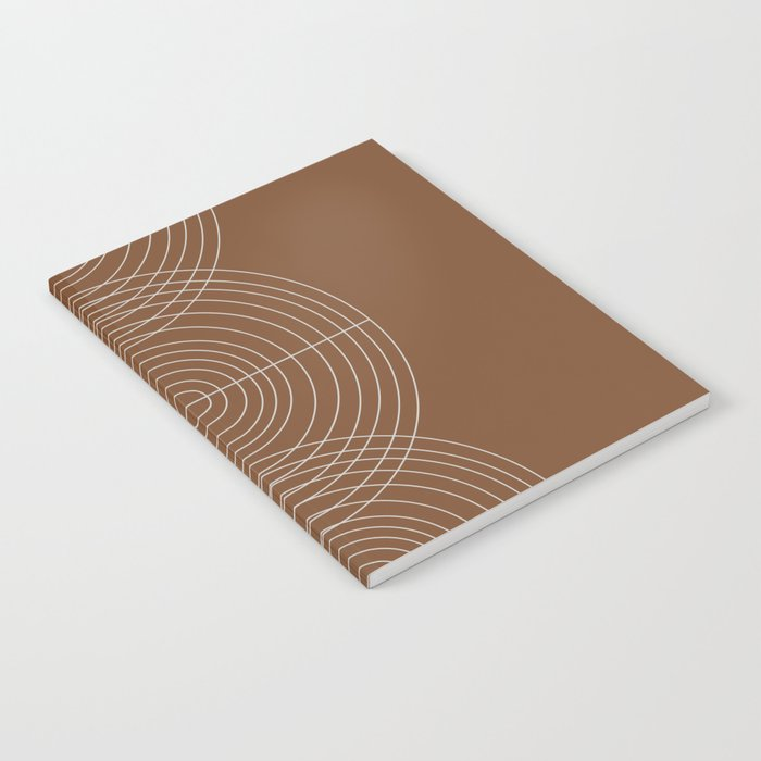 Burnt Orange, Geometric shape Notebook