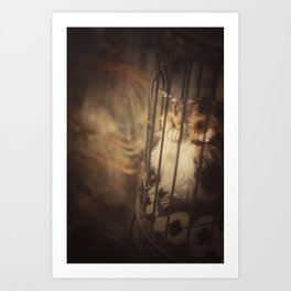 Caged Bird Art Print