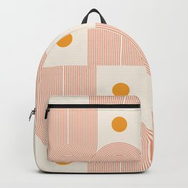 Abstraction_SUN_DOUBLE_LINE_POP_ART_Minimalism_001C Backpack
