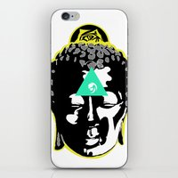 buddah iPhone & iPod Skins featuring Buddah by New Ill