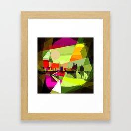green landscape Framed Art Print