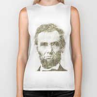 lincoln Biker Tanks featuring Abraham Lincoln by Sney1