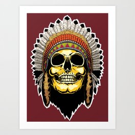 Golden Skull: Chief Art Print