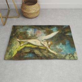 """Gustave Moreau """"Leda et le Cygne (Leda and the Swan)"""" Rug"""
