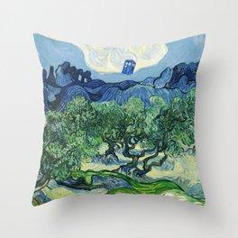 Tardis Flying Tree Throw Pillow