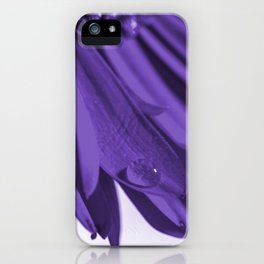 Flowers and drops of water iPhone Case