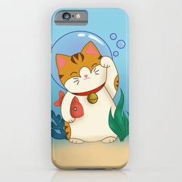 Underwater Lucky Cat iPhone Case