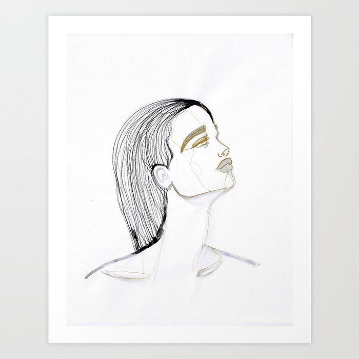 Wet hair Sue Art Print