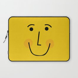 Smiley Face in Yellow Laptop Sleeve