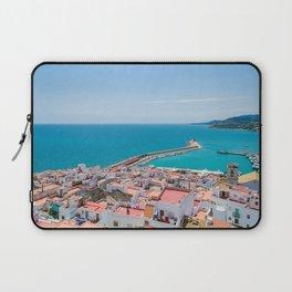 Wallpaper Spain Peniscola Sea Berth Houses Cities Pier Marinas Building Laptop Sleeve