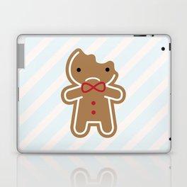 Sad Bitten Cookie Cute Gingerbread Man Laptop & iPad Skin