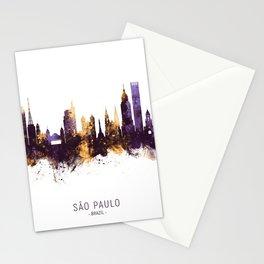 São Paulo Brazil Skyline Stationery Cards