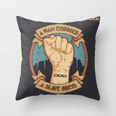 Bioshock a man, a slave Throw Pillow