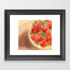 fraises. Framed Art Print