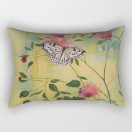 Rice Paper Butterfly Rectangular Pillow