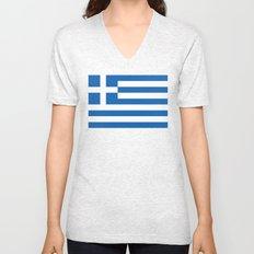 Greek flag Unisex V-Neck