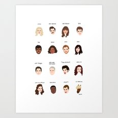 Cutie Pies of Pawnee Art Print
