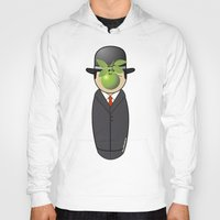 magritte Hoodies featuring Kokeshi Magritte by Pendientera
