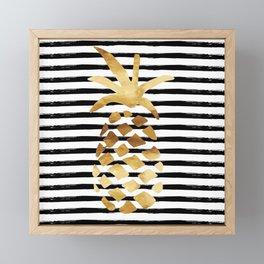 Pineapple & Stripes Framed Mini Art Print
