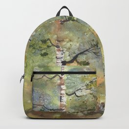 Spring Birch Forest, an original watercolor painting Backpack