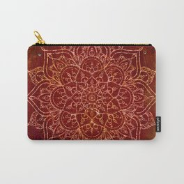 Rust Red Mandala Carry-All Pouch