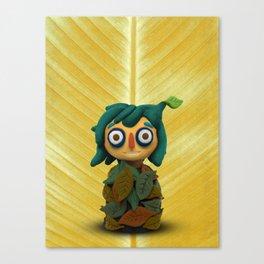 Leaf kid Canvas Print